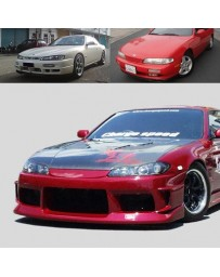 ChargeSpeed Nissan S14 to S15 Front End Conv. OEM Carbon Hood
