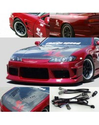 ChargeSpeed Nissan S14 to S15 Front Conv. Vented Carbon Hood