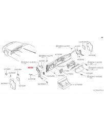 300zx Z32 Nissan OEM Finisher - Side Kick Panel Tan LH Z32