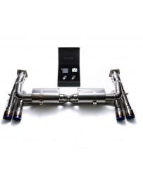 ARMYTRIX Titanium Valvetronic Exhaust System Dual Matte Black Tips Porsche 997 GT3 2007-2011