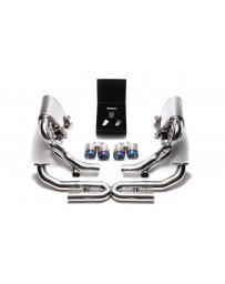 ARMYTRIX Stainless Steel Valvetronic Exhaust System Quad Blue Coated Porsche 997.2 Carrera PDK 2009-2011