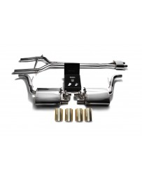 ARMYTRIX Stainless Steel Valvetronic Exhaust System Quad Gold Tips Porsche 970 Panamera S GTS 2010-2013