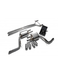 ARMYTRIX Stainless Steel Valvetronic Exhaust System Quad Chrome Silver Tips Porsche 970 Panamera 3.0T 2014-2016