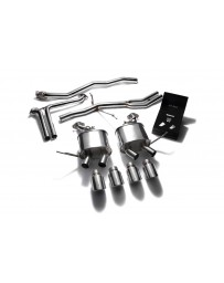 ARMYTRIX Stainless Steel Valvetronic Exhaust System Quad Chrome Silver Tips Porsche Macan 2.0T 2015-2020