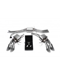 ARMYTRIX Stainless Steel Valvetronic Exhaust System Quad Chrome Silver Tips Porsche Macan S GTS Turbo 2015-2020