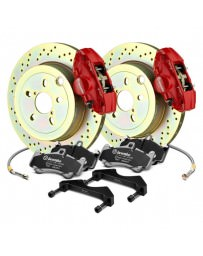 Toyota GT86 Brembo GT Series Cross Drilled 1-Piece Rotor Rear Brake Kit
