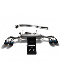 ARMYTRIX TITANIUM VALVETRONIC CATBACK EXHAUST 90MM SYSTEM W/RACE Y-PIPE NISSAN GT-R R35 WITH QUAD TITANIUM BLUE TIPS