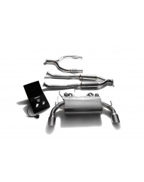 ARMYTRIX Stainless Steel Valvetronic Catback Exhaust System Dual Chrome Silver Tips Nissan 370Z 2009-2020