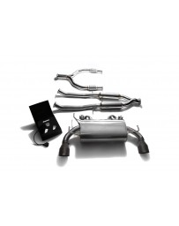 ARMYTRIX Stainless Steel Valvetronic Catback Exhaust System Dual Matte Black Tips Nissan 370Z 2009-2020