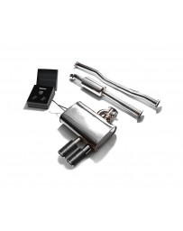ARMYTRIX Stainless Steel Valvetronic Exhaust System Dual Carbon Tips Mini Cooper S F 55 2014-2020