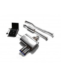 ARMYTRIX Stainless Steel Valvetronic Exhaust System Dual Blue Coated Mini Cooper S F56 F57 2014-2020
