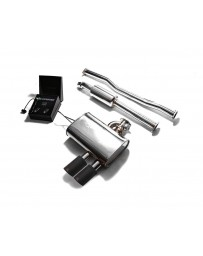 ARMYTRIX Stainless Steel Valvetronic Exhaust System Dual Matte Black Mini Cooper S F56 F57 2014-2020