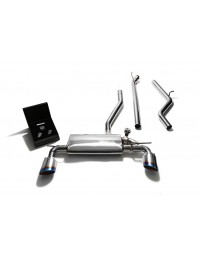 ARMYTRIX Stainless Steel Valvetronic Catback Exhaust System Dual Blue Coated Tips Mercedes-Benz A-Class W176 2WD 2013-2015