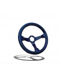 Street Aero Shadow Blue Carbon Fiber Steering Wheel