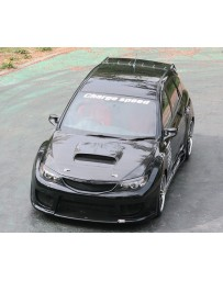 ChargeSpeed 08-14 Impreza WRX STI GH GR GV OEM Hood Carbon