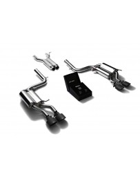 ARMYTRIX Stainless Steel Valvetronic Catback Exhaust System Quad Matte Black Tips Mercedes Benz C63 AMG W204 2008-2014