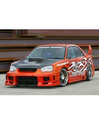 ChargeSpeed 04-05 Impreza SuperGT Wide Body Straight CF Bumper
