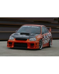 ChargeSpeed Impreza WRX Type-2 Front Bumper W/ Straight Carbon