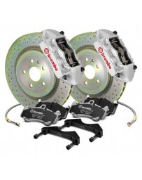 Focus ST 2013+ Brembo GT Series Cross Drilled Silver 1-Piece Rotor Front Brake Kit