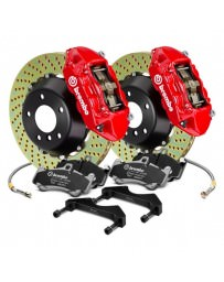 Focus ST 2013+ Brembo GT Series Cross Drilled Red 2-Piece Rotor Front Brake Kit