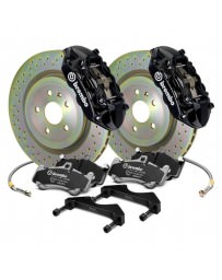 Focus ST 2013+ Brembo GT Series Cross Drilled Black 1-Piece Rotor Front Brake Kit