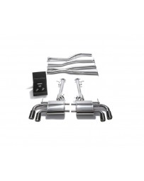 ARMYTRIX Stainless Steel Valvetronic Exhaust System Quad Carbon Tips Lexus LC500 5.0L V8 2017+