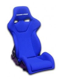 ChargeSpeed Reclined Racing Seat Genoa R Carbon Blue