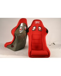ChargeSpeed Bucket Racing Seat Shark Type Kevlar Red OG