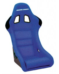 ChargeSpeed Bucket Racing Seat Shark Type Kevlar Blue