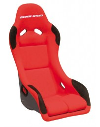 ChargeSpeed Bucket Racing Seat EVO X Type Kevlar Red