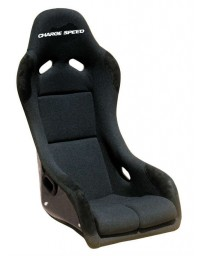 ChargeSpeed Bucket Racing Seat EVO X Type FRP Black