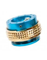 NRG Quick Release Kit - Pyramid Edition - New Blue Body / Chrome Gold Pyramid Ring
