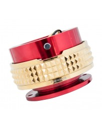 NRG Quick Release Kit - Pyramid Edition - Red Body / Chrome Gold Pyramid Ring