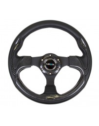 NRG Reinforced Steering Wheel 320mm Sport with Carbon Fiber Look Trim (001CBL)