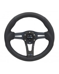 NRG Reinforced Steering Wheel (320mm) wITH Carbon Center Spoke