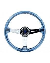 NRG Reinforced Steering Wheel - Matsuri 350mm 2in Deep Dish Clear Acrylic Steering Wheel