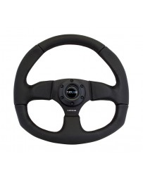 NRG Reinforced Steering Wheel (320mm Horizontal / 330mm Vertical) Leather with Black Stitching