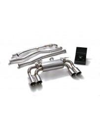 ARMYTRIX Stainless Steel Valvetronic Catback Exhaust System Quad Chrome Silver Tips BMW M2 F87 2016-2020