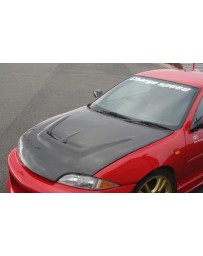 ChargeSpeed 95-02 Chevy Cavalier Carbon Vented Hood