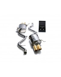 ARMYTRIX Stainless Steel Valvetronic Catback Exhaust System Quad Gold Tips BMW M3 E9x 2008-2013