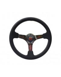 NRG Reinforced Steering Wheel (350mm/3in. Deep) Ryan Litteral SNG.w/5mm pinstriping Hydrodip 3 Spoke