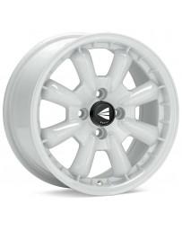 Enkei Compe 16x7 25mm Inset 4x100 Bolt Pattern 72.6mm Bore Dia White Wheel