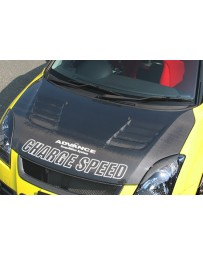 ChargeSpeed 04-09 Swift Sport ZC31S Carbon Vented Hood