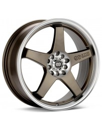 Enkei EV5 17x7 4x100/114.3 45mm Offset 72.6 Bore Diameter Matte Bronze w/ Machined Lip Wheel