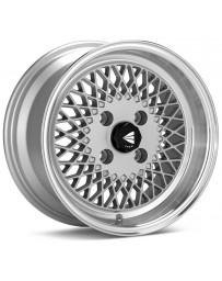 Enkei92 Classic Line 15x8 25mm Offset 4x100 Bolt Pattern Silver Wheel