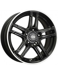 Enkei FD-05 17x7 5x100 50mm Offset 72.62 Bore Dia Black Machined Wheel