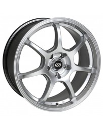 Enkei GT7 17x7.5 38mm Offset 5x108 Bolt Pattern 72.6mm Bore Dia Hyper Silver Wheel
