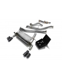ARMYTRIX Stainless Steel Valvetronic Catback Exhaust Quad Matte Black Tips BMW 320i 328i GT F34 2013-2015