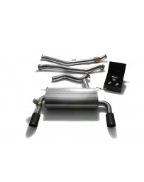 ARMYTRIX Stainless Steel Valvetronic Catback Exhaust Dual Matte Black BMW 335i 435i F3x 2012-2015