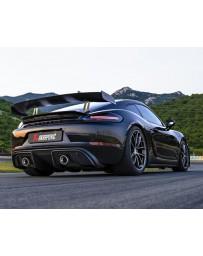Akrapovic 2020+ Porsche Cayman GT4 (718) Slip-On Line (Titanium) (Req Tips)